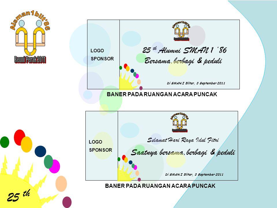 25 th 25 th Alumni SMAN 1 '86 Bersama,berbagi & peduli