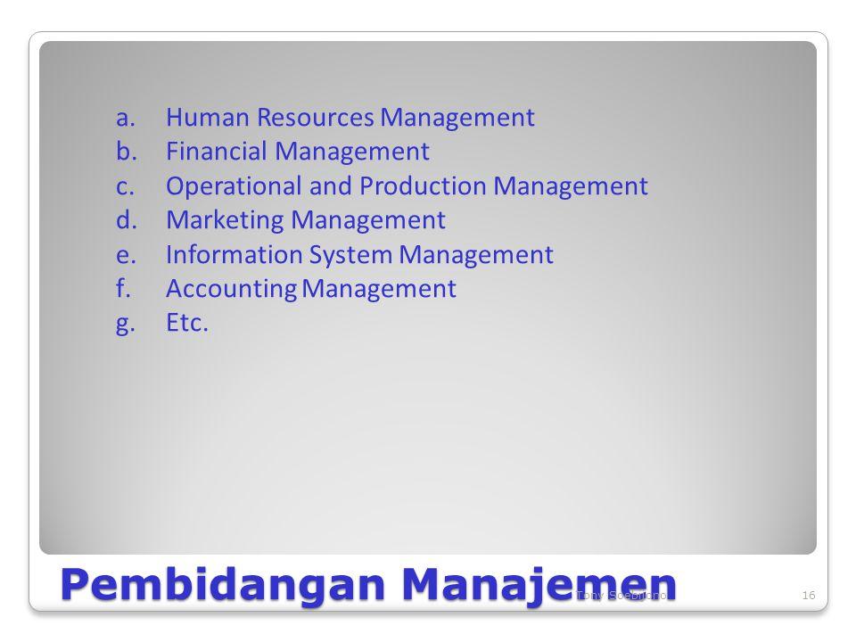 Pembidangan Manajemen
