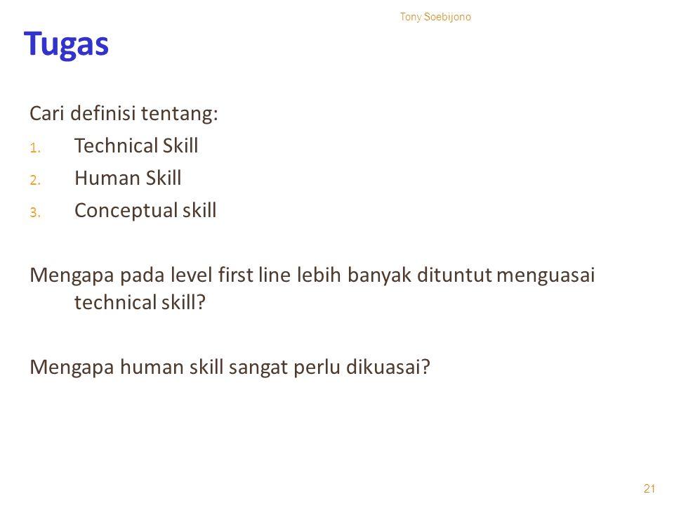 Tugas Cari definisi tentang: Technical Skill Human Skill