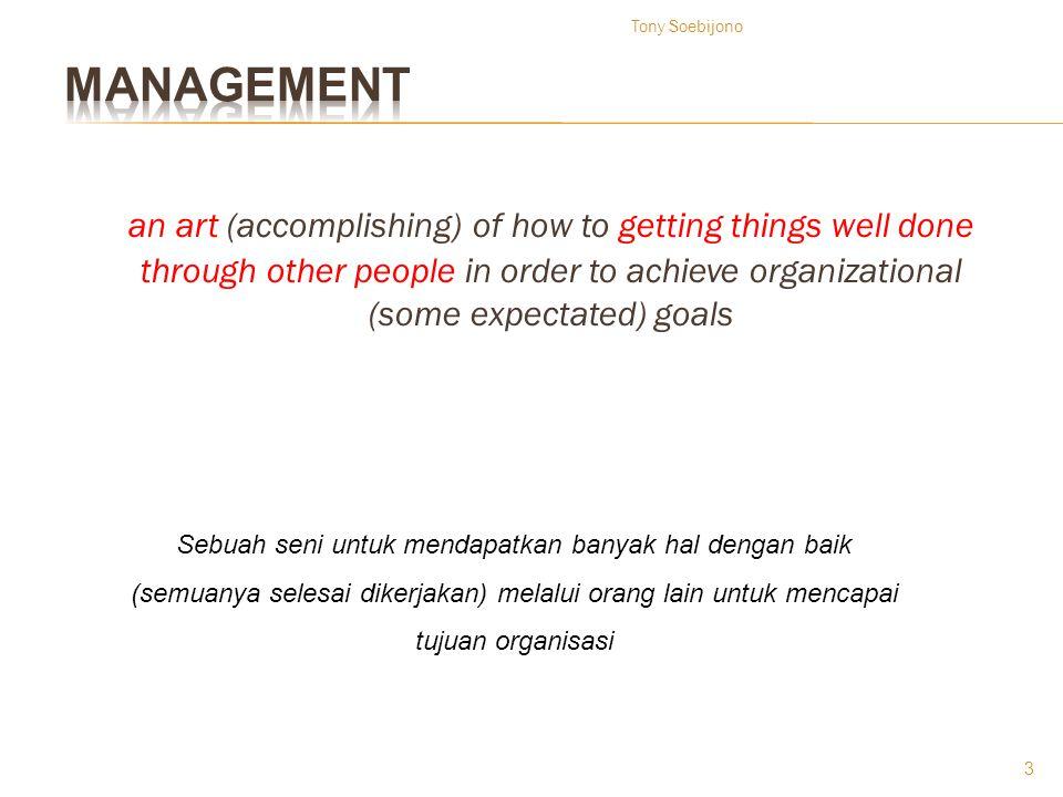 Tony Soebijono management.