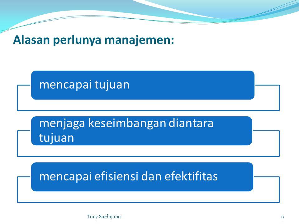 Alasan perlunya manajemen: mencapai tujuan