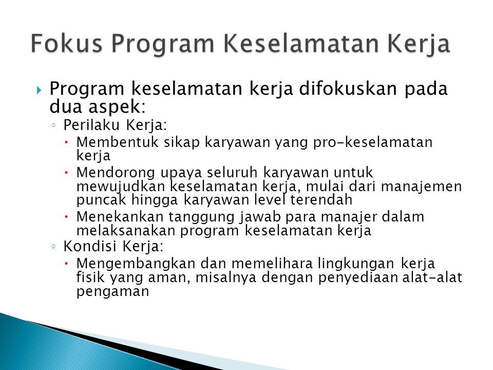 Fokus Program Keselamatan Kerja