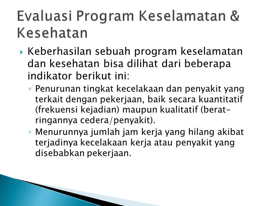 Evaluasi Program Keselamatan & Kesehatan