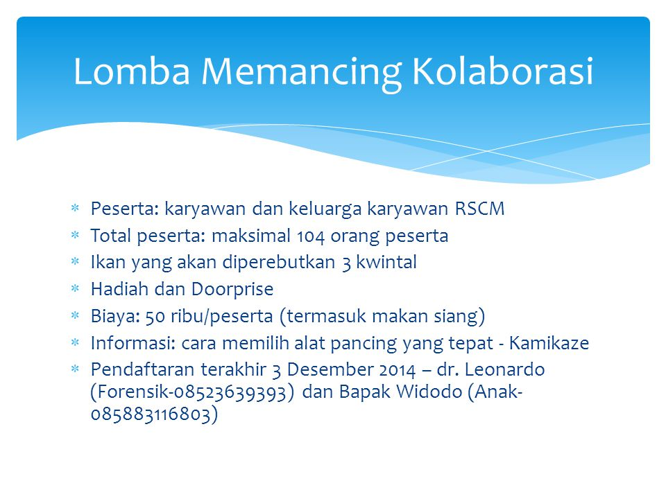 Lomba Memancing Kolaborasi
