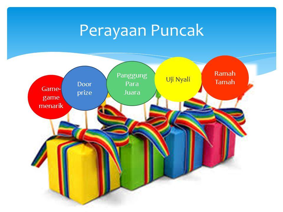Perayaan Puncak Uji Nyali Ramah Tamah Panggung Para Juara Door prize