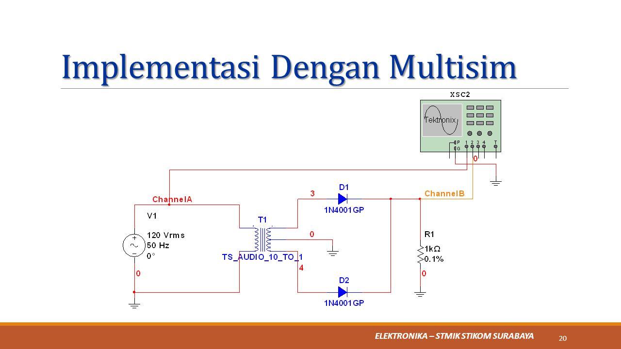Implementasi Dengan Multisim