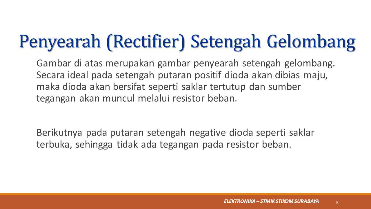 Penyearah (Rectifier) Setengah Gelombang