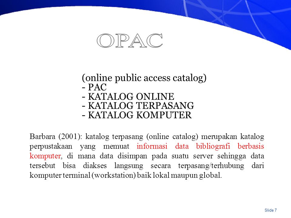 19 APR 12 UPT Perpustakaan UNS port/1468 Public Access Catalog