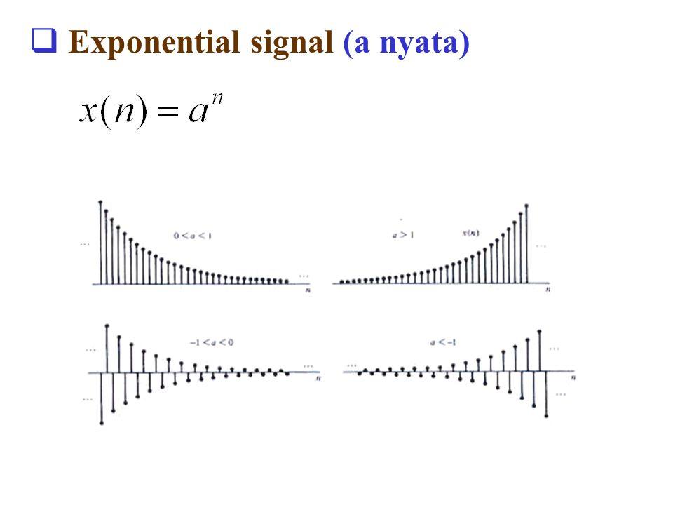 Exponential signal (a nyata)