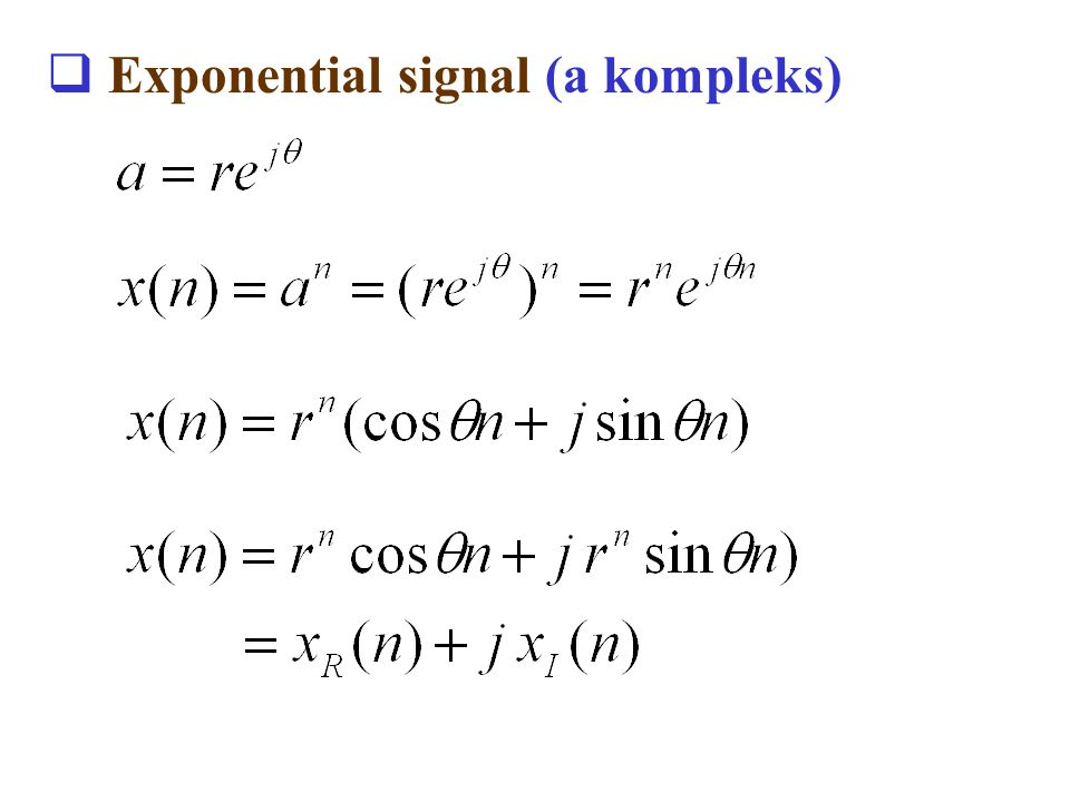 Exponential signal (a kompleks)