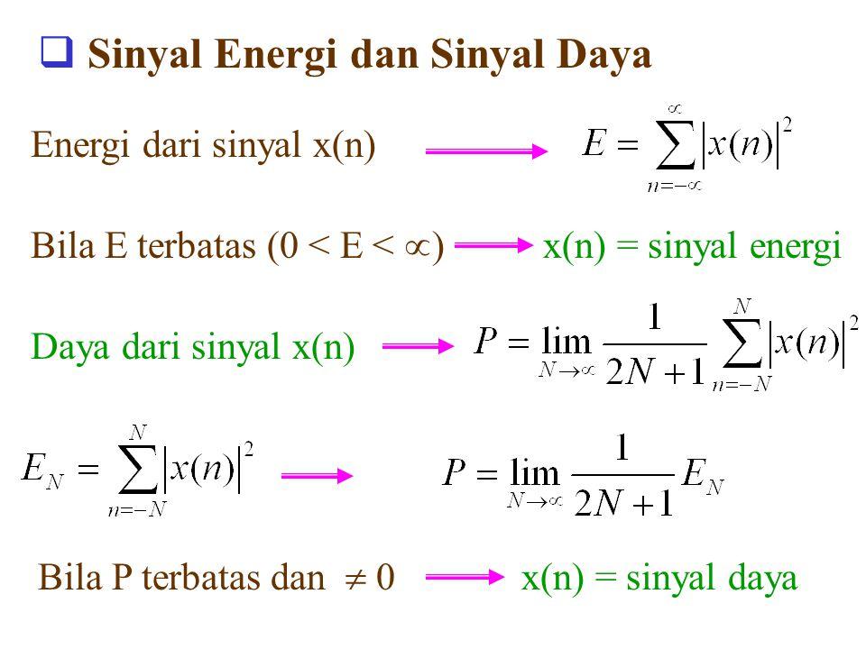 Sinyal Energi dan Sinyal Daya