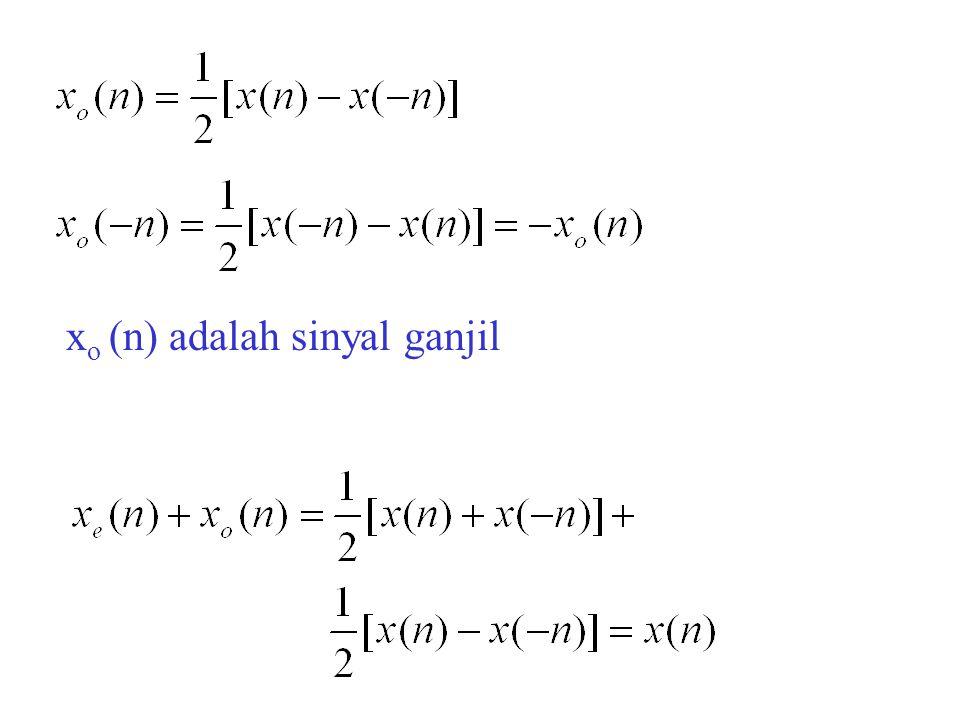 xo (n) adalah sinyal ganjil