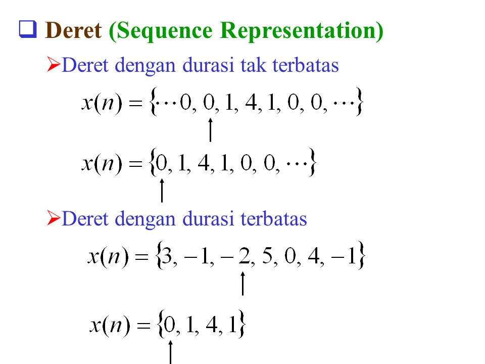 Deret (Sequence Representation)