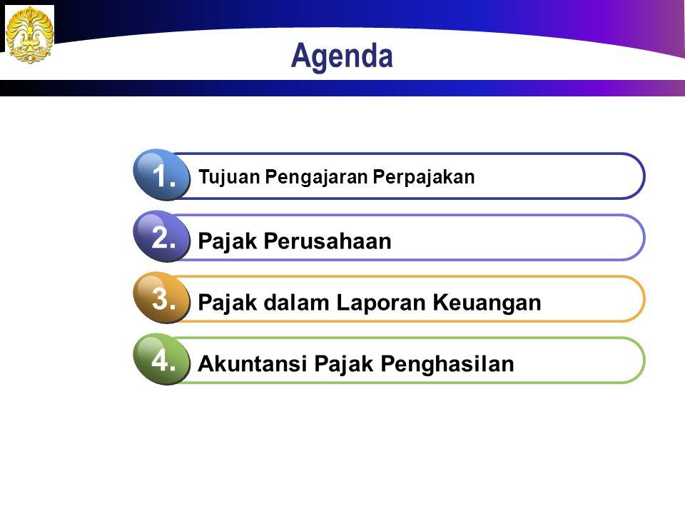Agenda 1. 2. 3. 4. Pajak Perusahaan Pajak dalam Laporan Keuangan