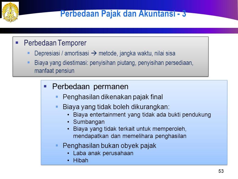 Perbedaan Pajak dan Akuntansi - 3