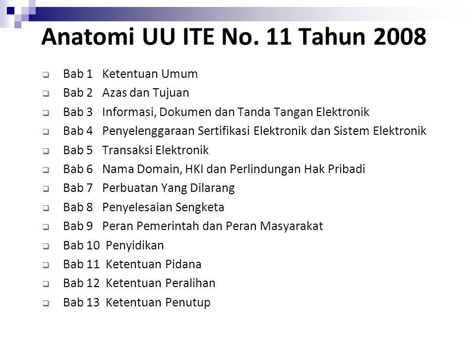 Anatomi UU ITE No. 11 Tahun 2008 Bab 1 Ketentuan Umum