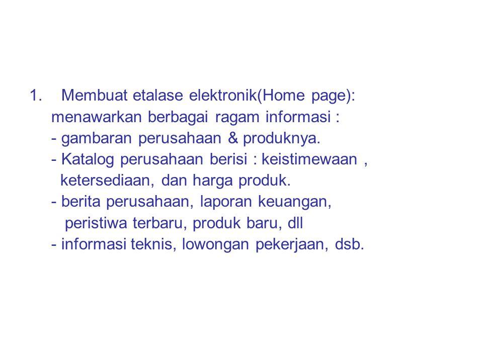 Membuat etalase elektronik(Home page):