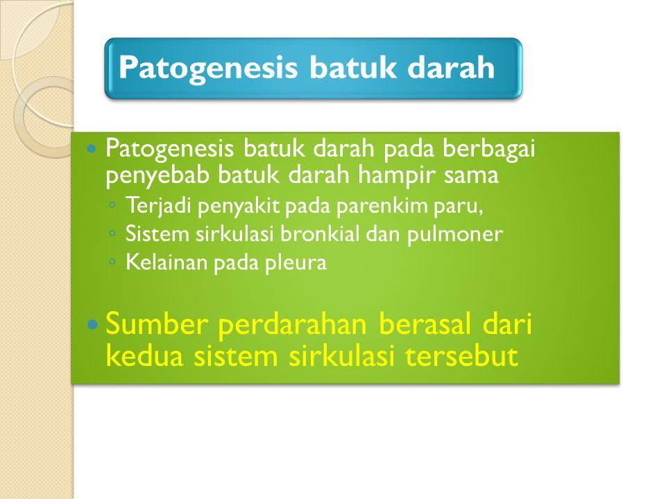 Patogenesis batuk darah