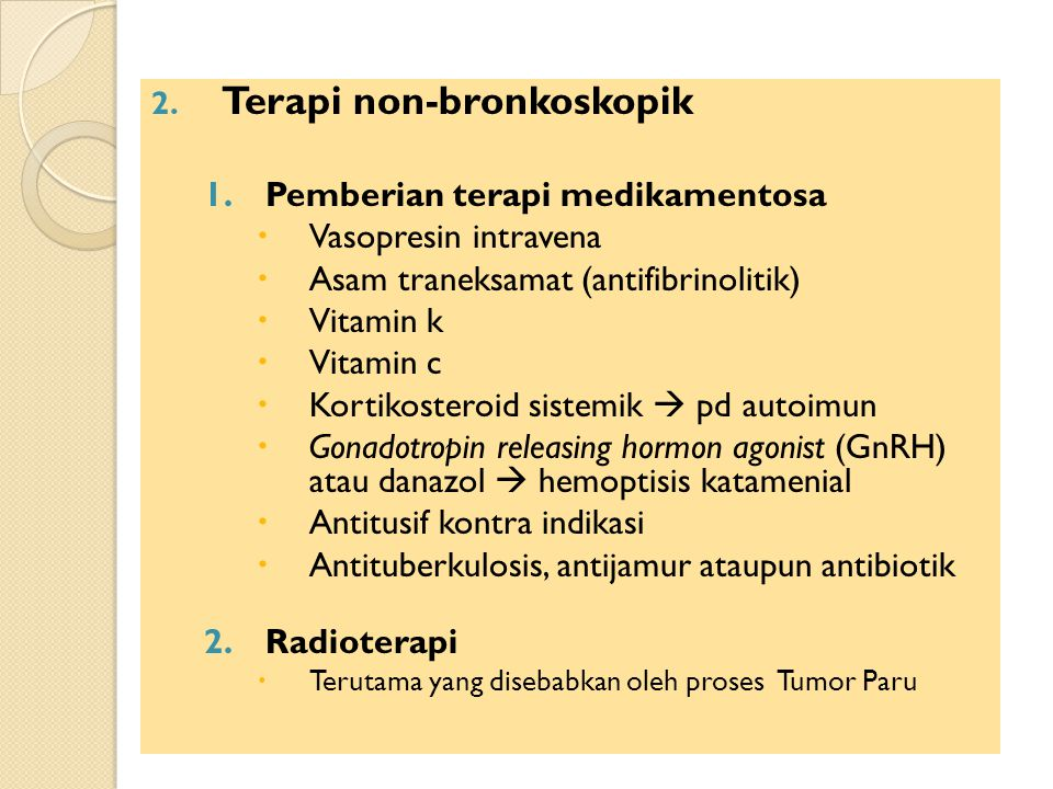 Terapi non-bronkoskopik