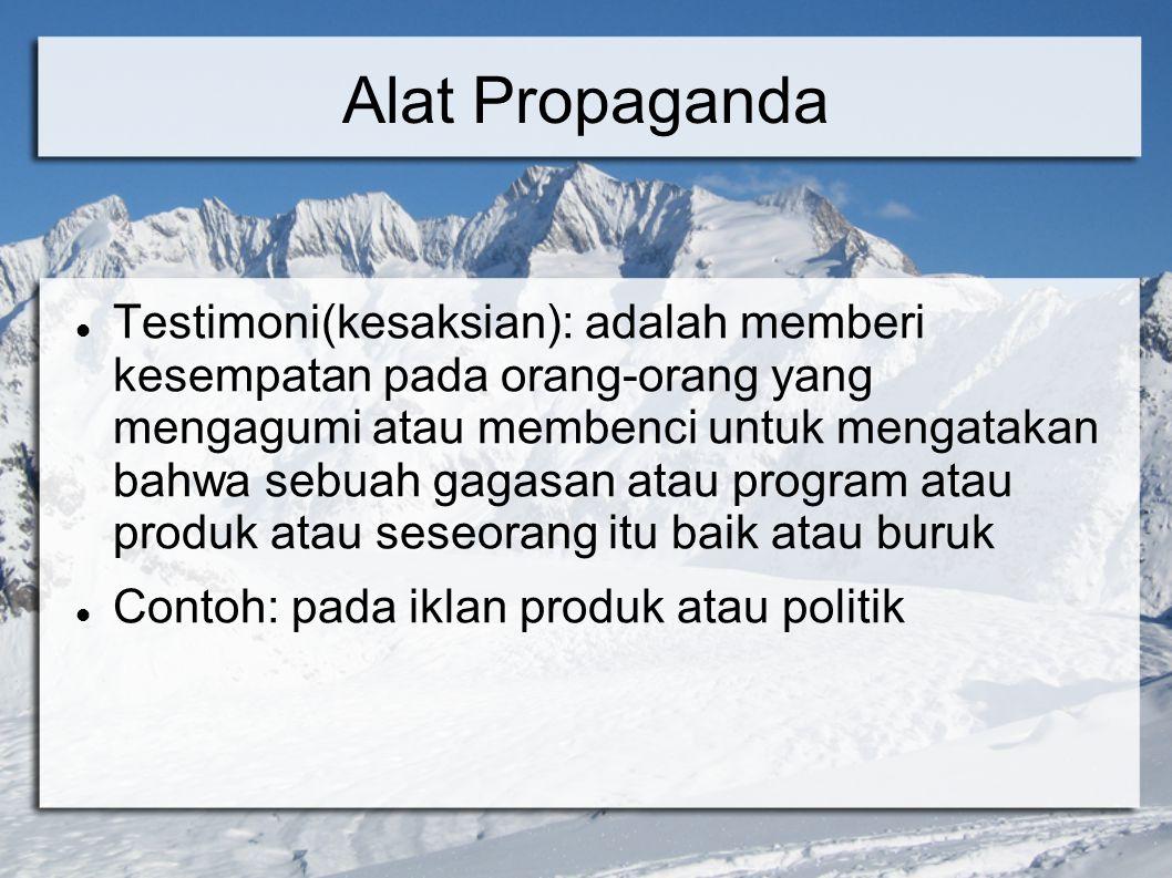Alat Propaganda