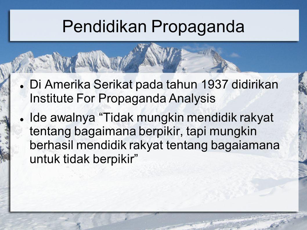 Pendidikan Propaganda