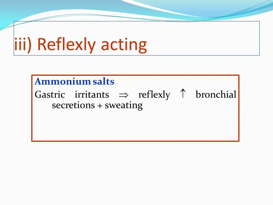 iii) Reflexly acting Ammonium salts
