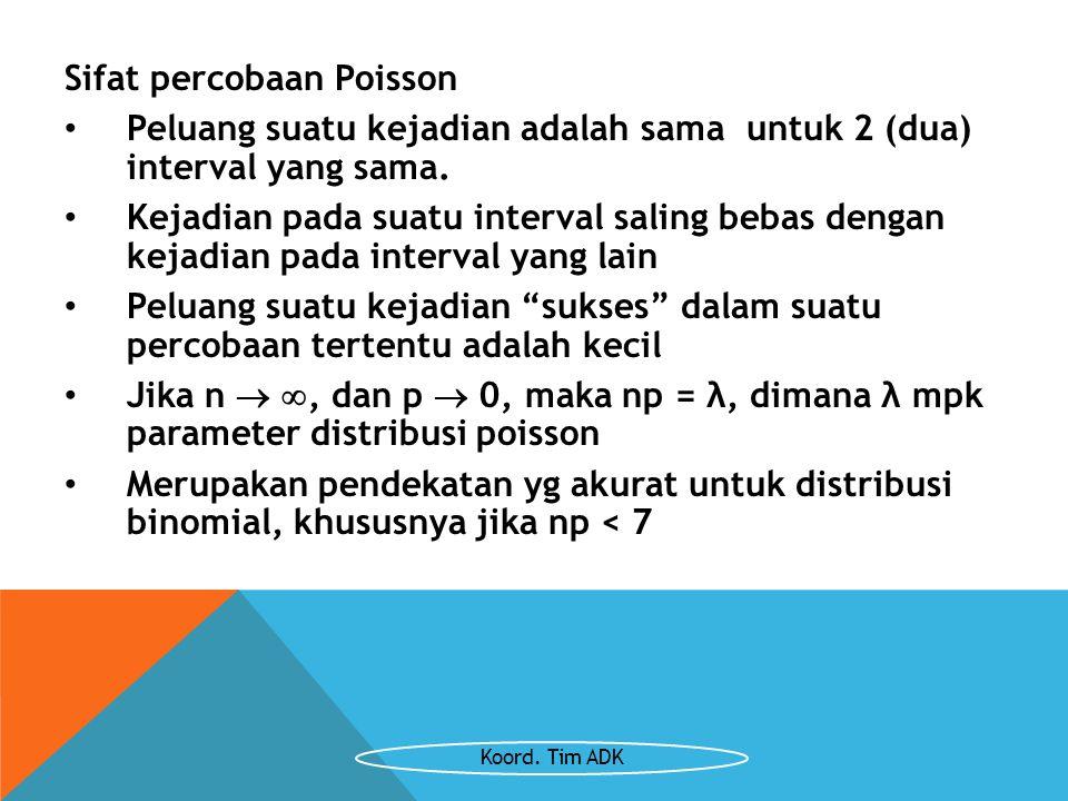 Sifat percobaan Poisson