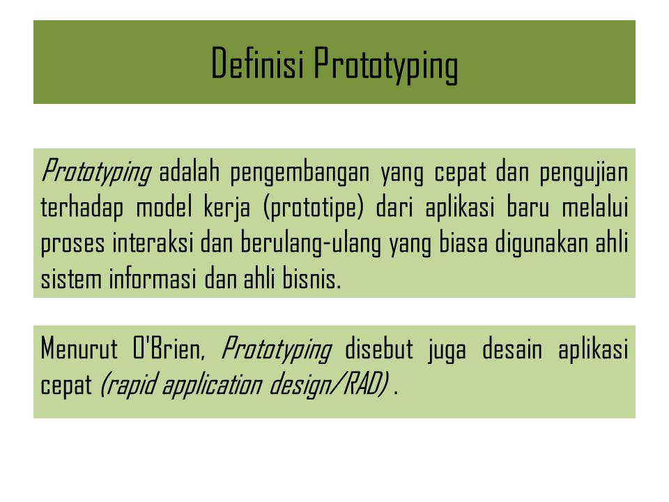 Definisi Prototyping