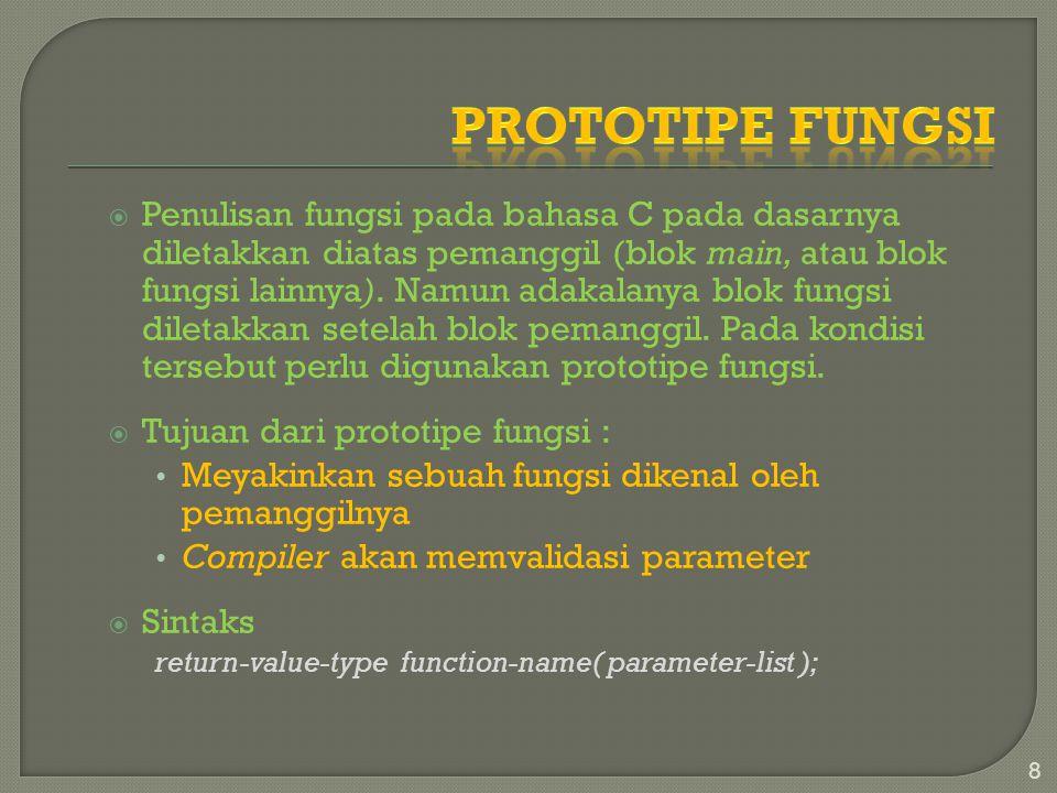 Prototipe Fungsi