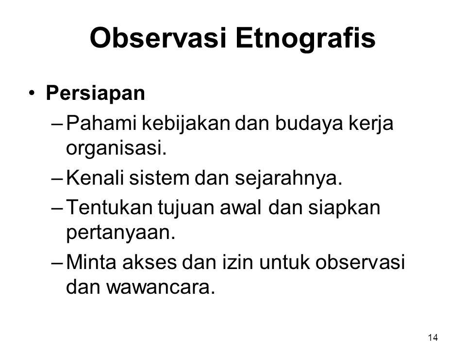 Observasi Etnografis Persiapan