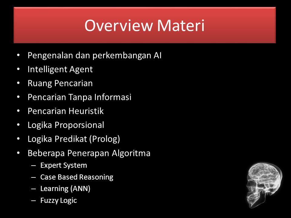 Overview Materi Pengenalan dan perkembangan AI Intelligent Agent