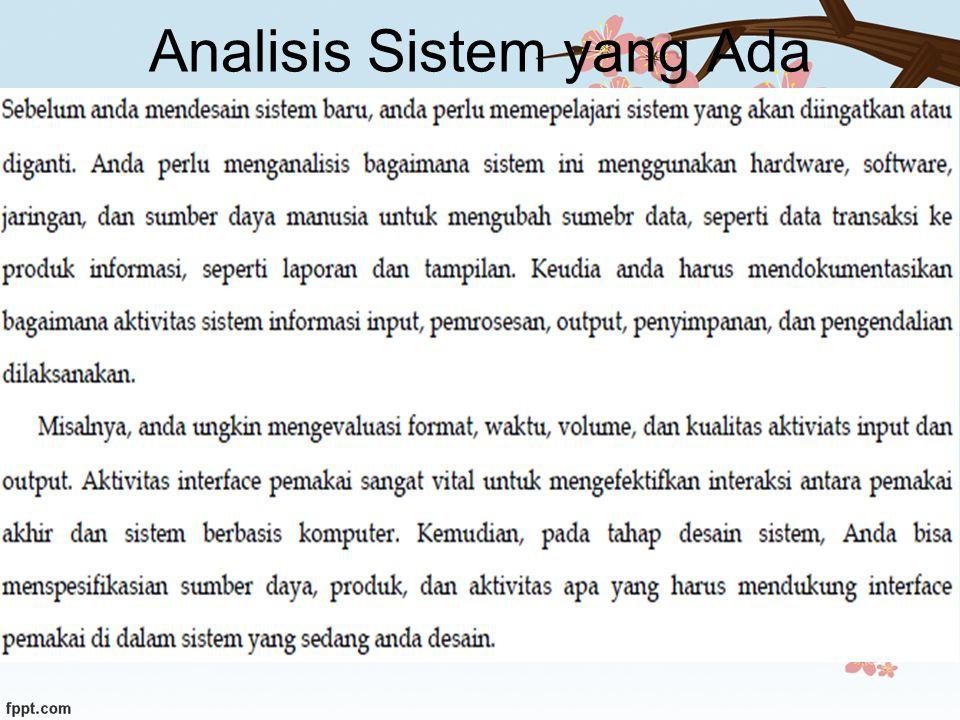Analisis Sistem yang Ada