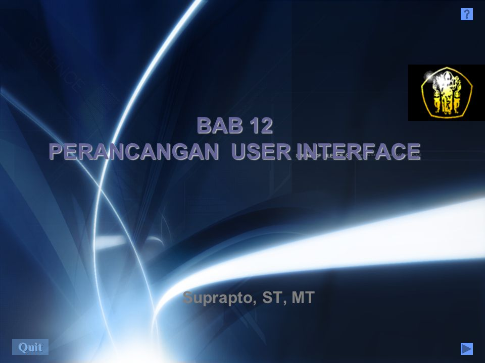 BAB 12 PERANCANGAN USER INTERFACE