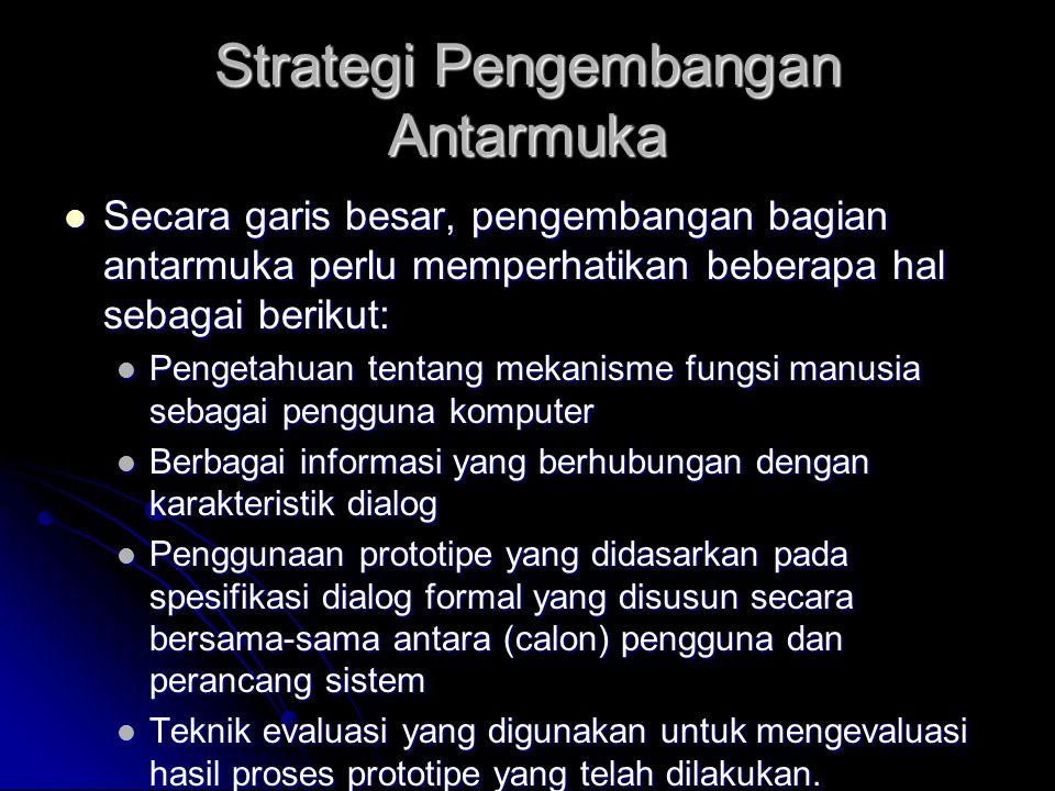 Strategi Pengembangan Antarmuka