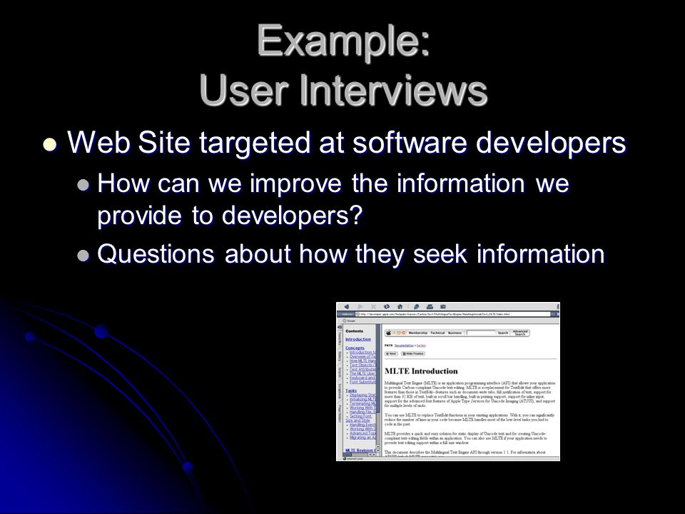 Example: User Interviews