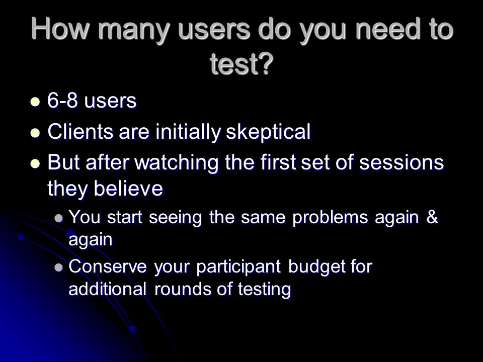 How many users do you need to test