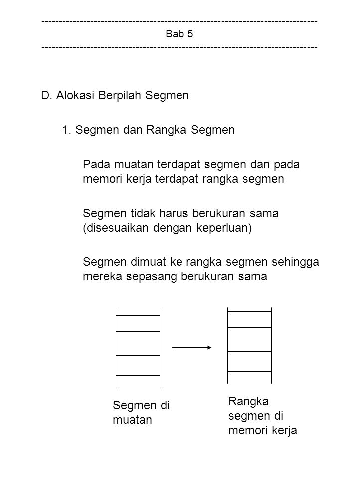 D. Alokasi Berpilah Segmen 1. Segmen dan Rangka Segmen