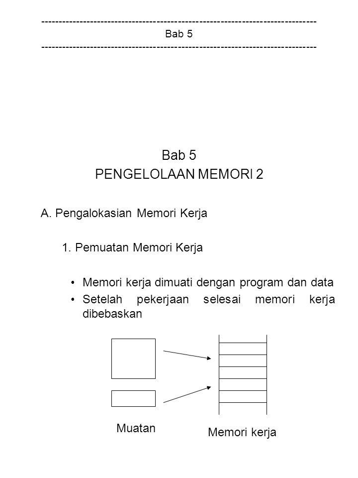 A. Pengalokasian Memori Kerja