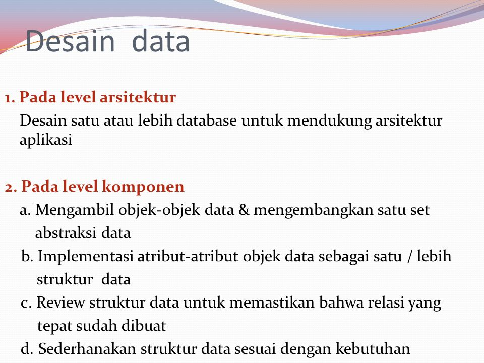Desain data
