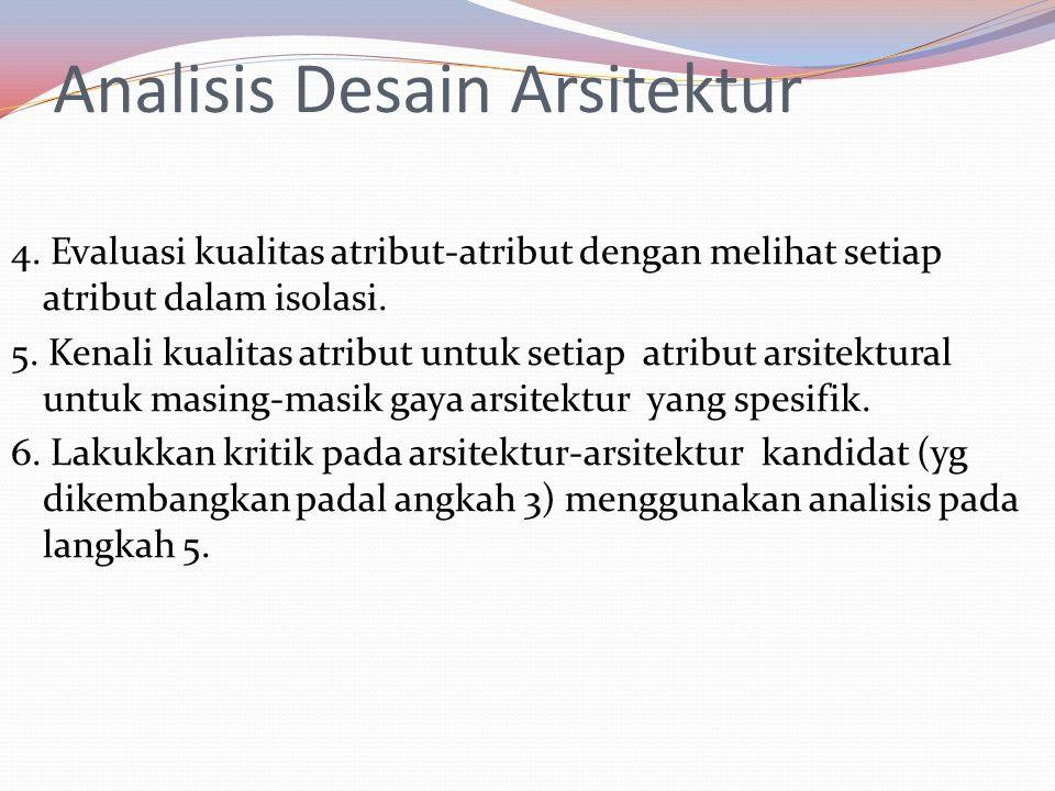 Analisis Desain Arsitektur