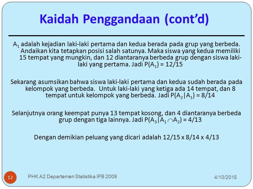 Kaidah Penggandaan (cont'd)