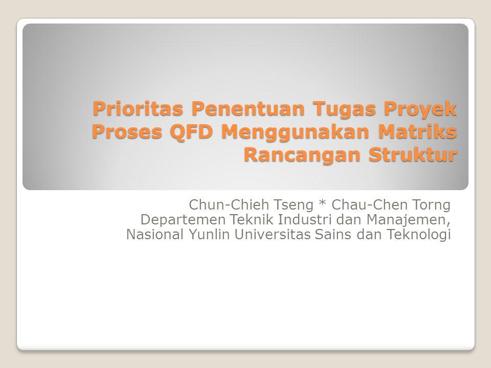 Prioritas Penentuan Tugas Proyek Proses QFD Menggunakan Matriks Rancangan Struktur