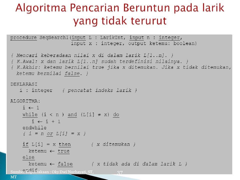 Sumber Kepustakaan : Oky Dwi Nurhayati, ST, MT