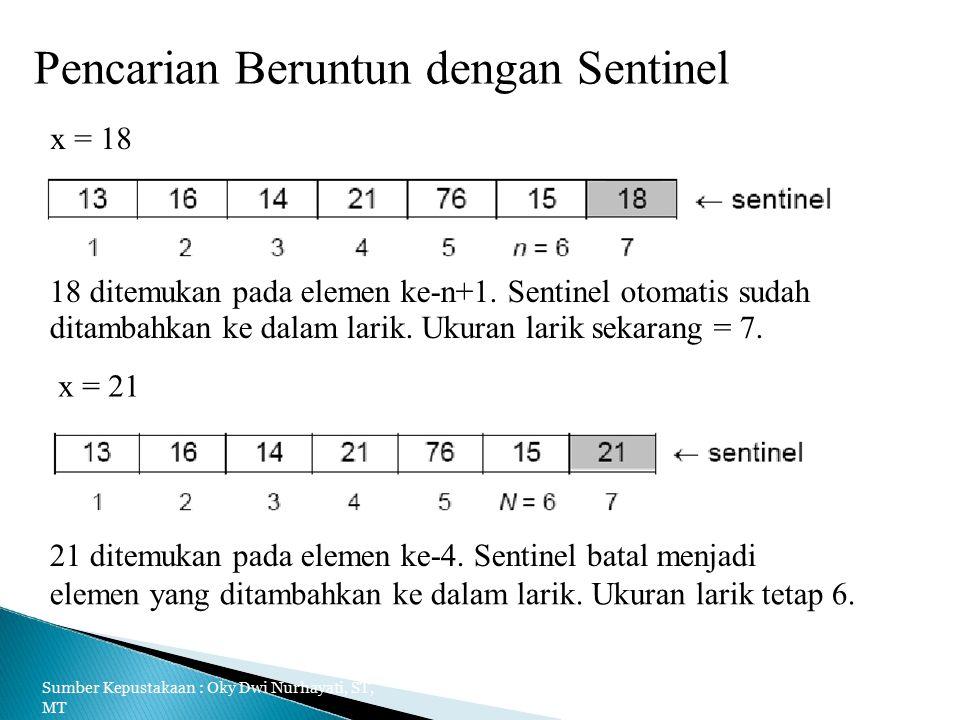 Pencarian Beruntun dengan Sentinel