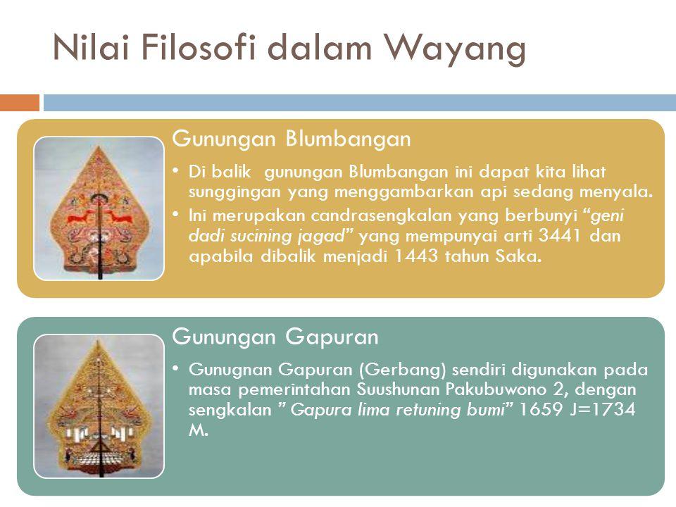 Nilai Filosofi dalam Wayang