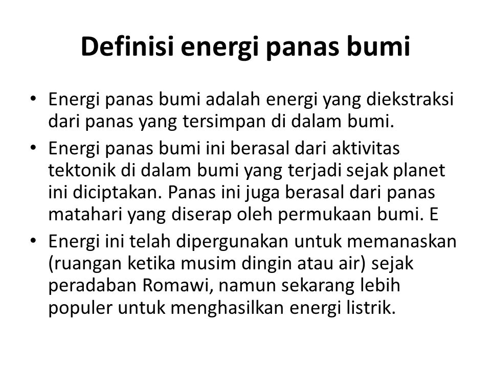 Definisi energi panas bumi
