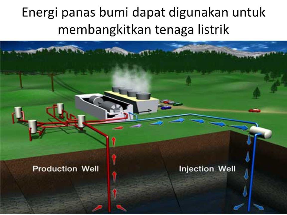Energi panas bumi dapat digunakan untuk membangkitkan tenaga listrik