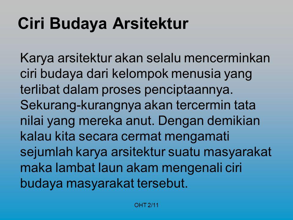 Ciri Budaya Arsitektur