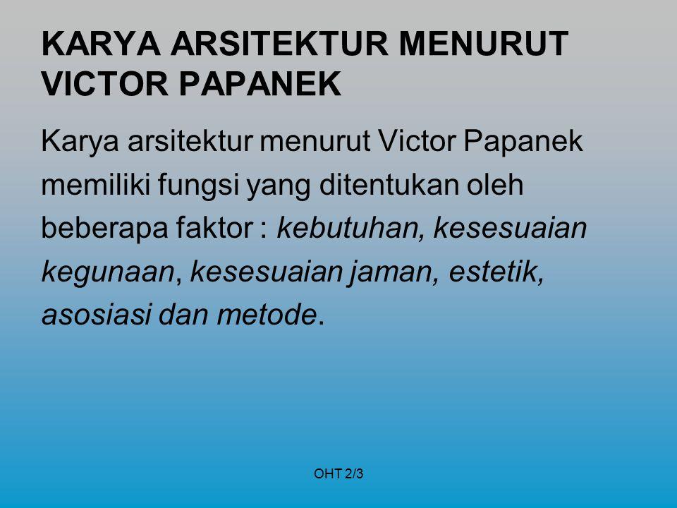 KARYA ARSITEKTUR MENURUT VICTOR PAPANEK