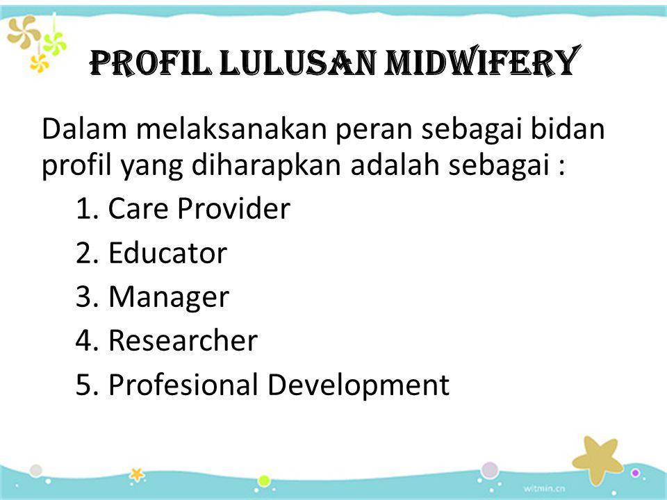 PROFIL LULUSAN MIDWIFERY
